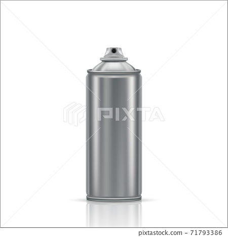 Steel spray can on a white background. Vector illustration 71793386
