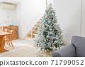 裝飾在房間裡的聖誕樹 71799052