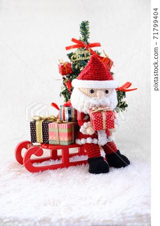 聖誕老人和馴鹿阿米古魯米聖誕節 71799404