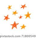 Hand drawn child like illustrations of stars 71800549