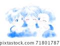 三個微笑的男孩 71801787