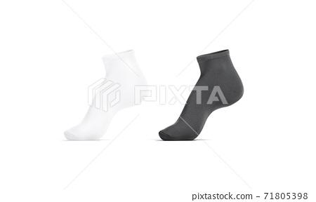 Blank black and white ancle socks mockup tiptoe, side view 71805398