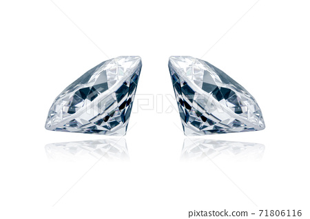 Luxury diamond isolated on white background 71806116
