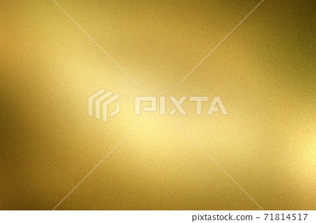 Glowing dark gold foil metal wall with copy space, abstract texture background 71814517