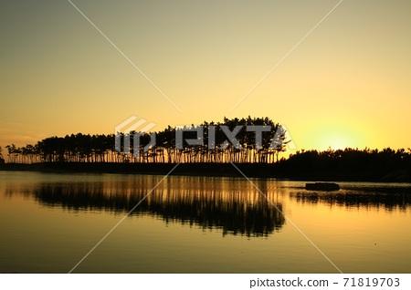 노을이있는풍경,운여해변 71819703
