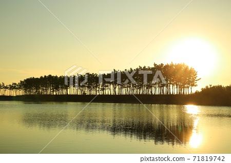 노을이있는풍경,운여해변 71819742