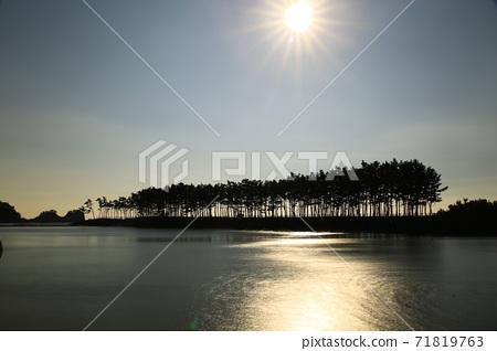 노을이있는풍경,운여해변 71819763