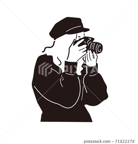 單鏡頭反光的相機女孩 71822278