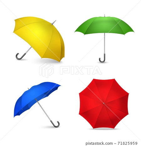 Bright Colorful Umbrellas 4 Realistic Images 71825959