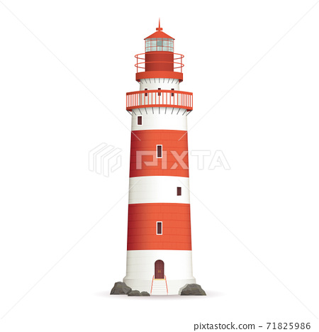 Realistic Lighthouse Illustration 71825986