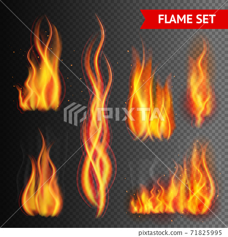 Fire on transparent background 71825995