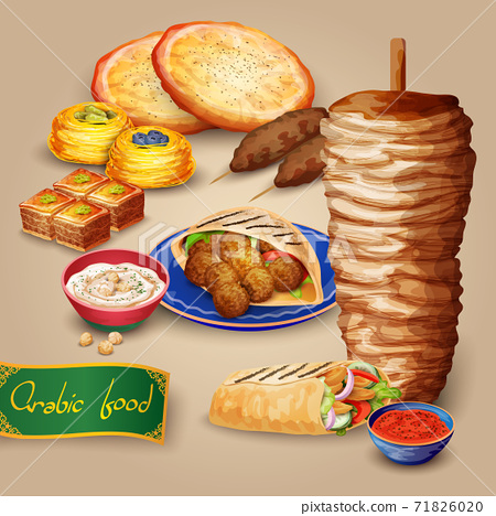 Arabic Food Set 71826020