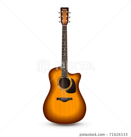 Guitar Realistic Isolated 71826133