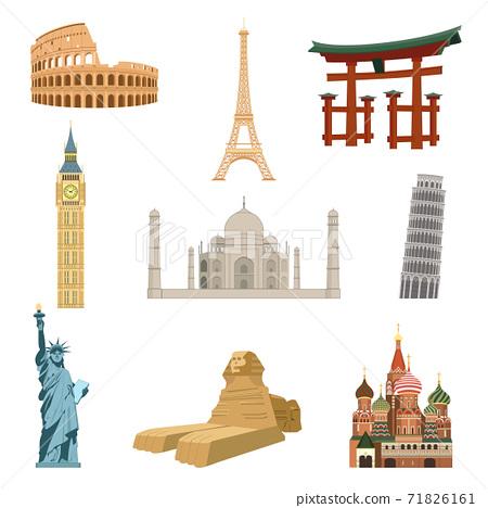 World famous landmarks 71826161