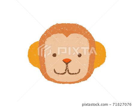 蠟筆觸摸猴子臉字符圖 71827076