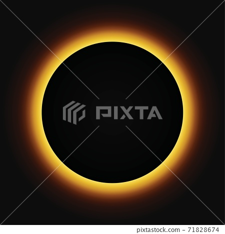 Sun eclipse vector illustration. Sun total eclipse 71828674