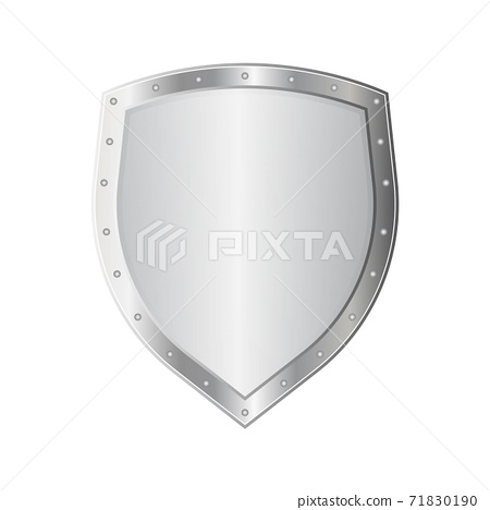 Metal shield vector illustration isolated on white background 71830190