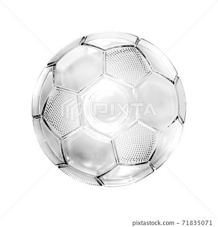 Glass soccer ball 71835071
