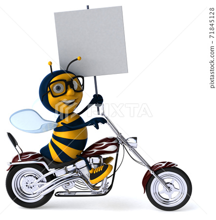 Fun bee - 3D Illustration 71845128