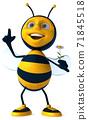 Fun bee - 3D Illustration 71845518