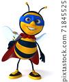Fun bee - 3D Illustration 71845525
