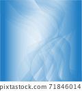 푸른 배경. 얇은 천, 오 건디, 물, 흐름, 이미지 소재 71846014