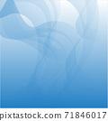 푸른 배경. 얇은 천, 오 건디, 물, 흐름, 이미지 소재 71846017