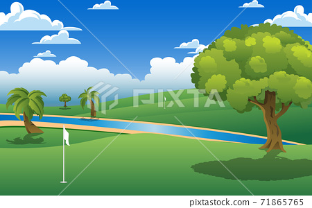 landscape of golf course in the day time 71865765