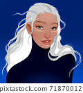 Portrait of a woman with white hair 71870012