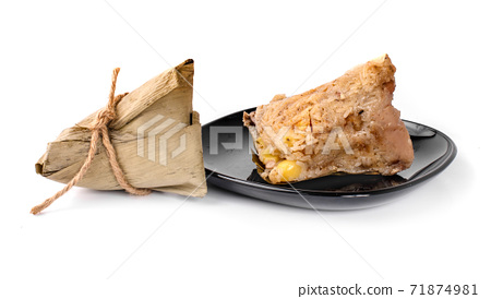 rice dumpling isolated on a white background 71874981