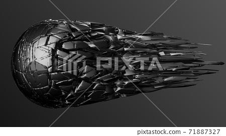축구 공 농구 3D 일러스트 71887327