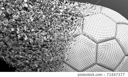 축구 공 농구 3D 일러스트 71887377