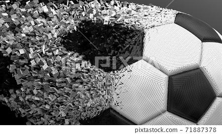 축구 공 농구 3D 일러스트 71887378