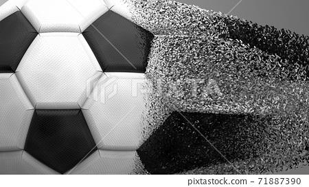 축구 공 농구 3D 일러스트 71887390