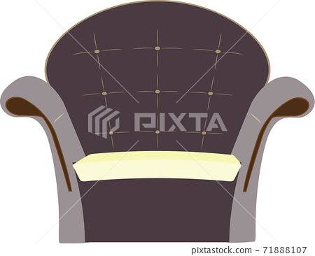 Illustration of a gorgeous sofa for one person that is simple and cute 71888107