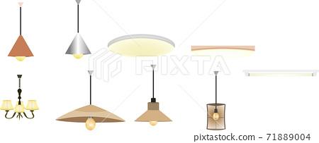 簡單的照明圖組 71889004