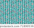 북유럽 풍의 꽃 무늬 벽지 71890536