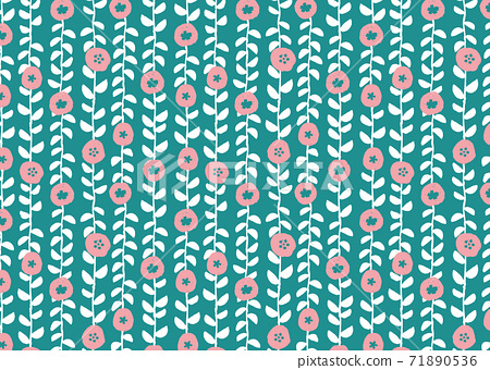 Scandinavian style floral wallpaper 71890536