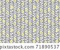 북유럽 풍의 꽃 무늬 벽지 71890537