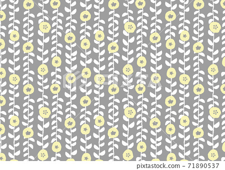 Scandinavian style floral wallpaper 71890537