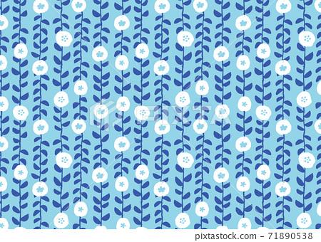Scandinavian style floral wallpaper 71890538