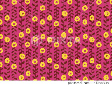 Scandinavian style floral wallpaper 71890539
