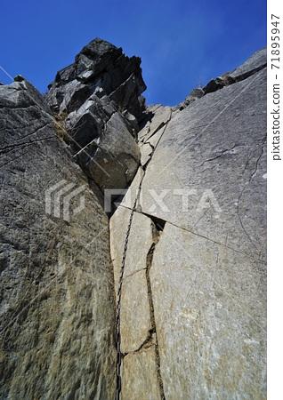 乾徳山의 鳳岩 사슬 공간 71895947