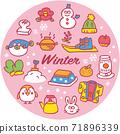冬季圖標集 71896339