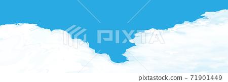 Realistic cloud background vector graphic blue sky entrance cloud landscape size 71901449