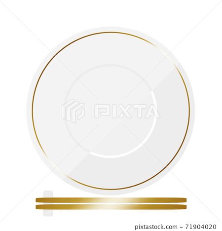 餐具和餐具白色和金色筷子 71904020