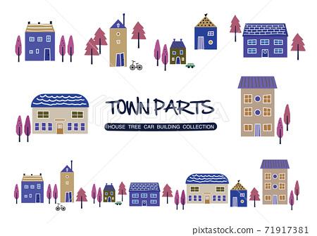城市景觀房屋HOUSE城市 71917381