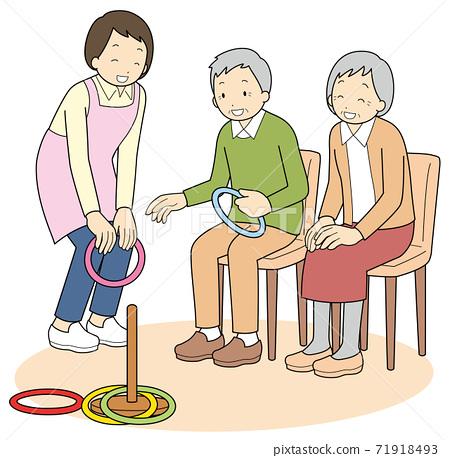 老年人享受投擲環 71918493