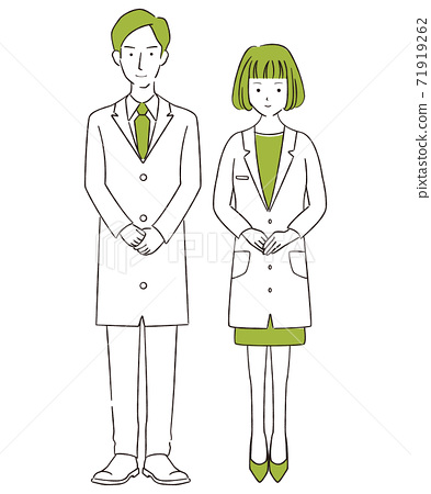 Hand-painted 1color male and female pair white coat welcome newcomer 71919262