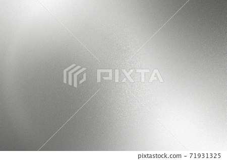 Glowing silver gray foil metal wall with copy space, abstract texture background 71931325
